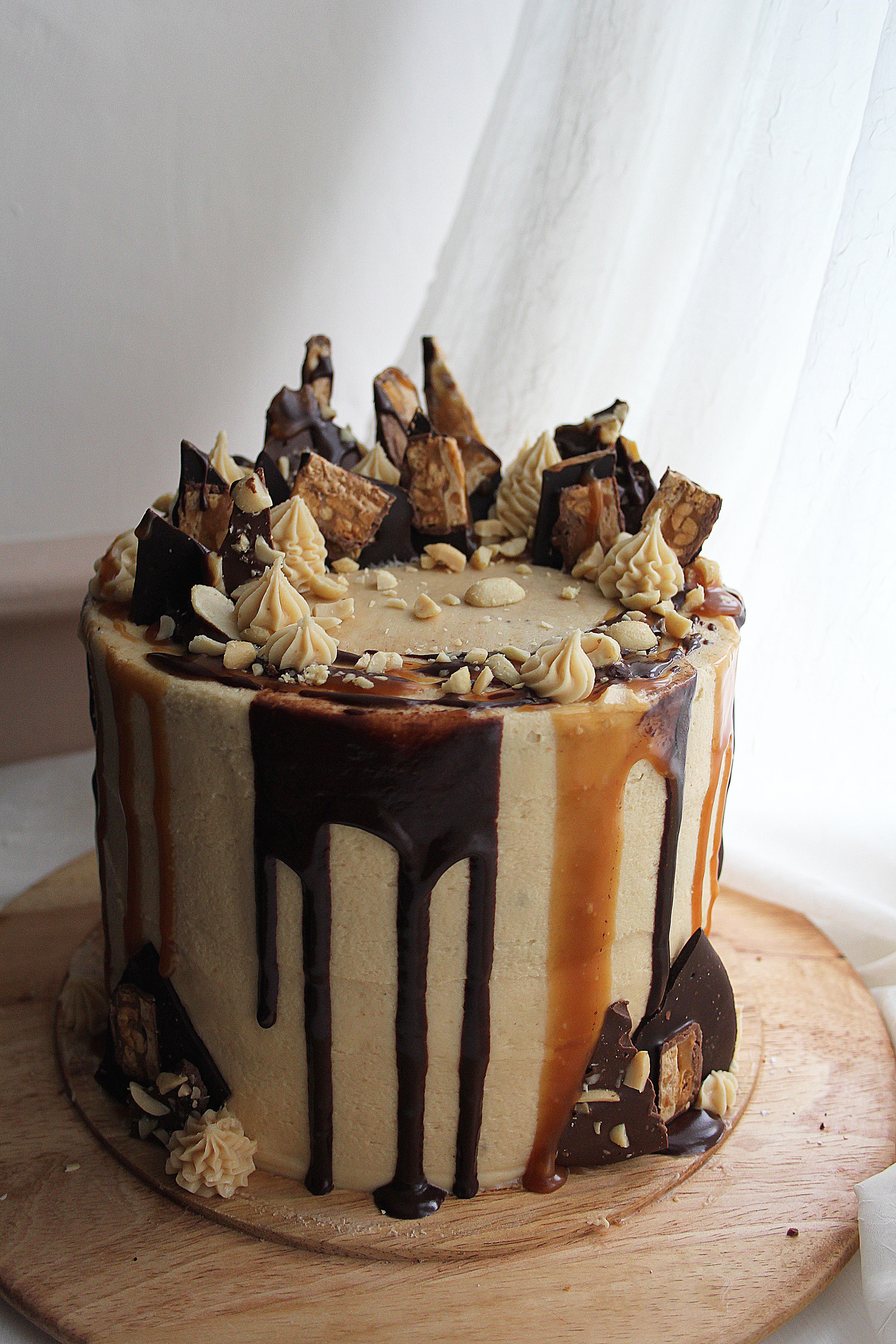 Superb Snickers Celebration Cake Tassybakes Funny Birthday Cards Online Hetedamsfinfo