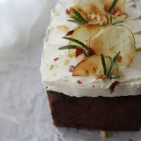 Carrot, Apple and Walnut Loaf with Maple Icing