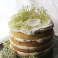 Gooseberry and Elderflower Layer Cake