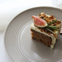 Sticky Fig Cake with Pistachio Praline