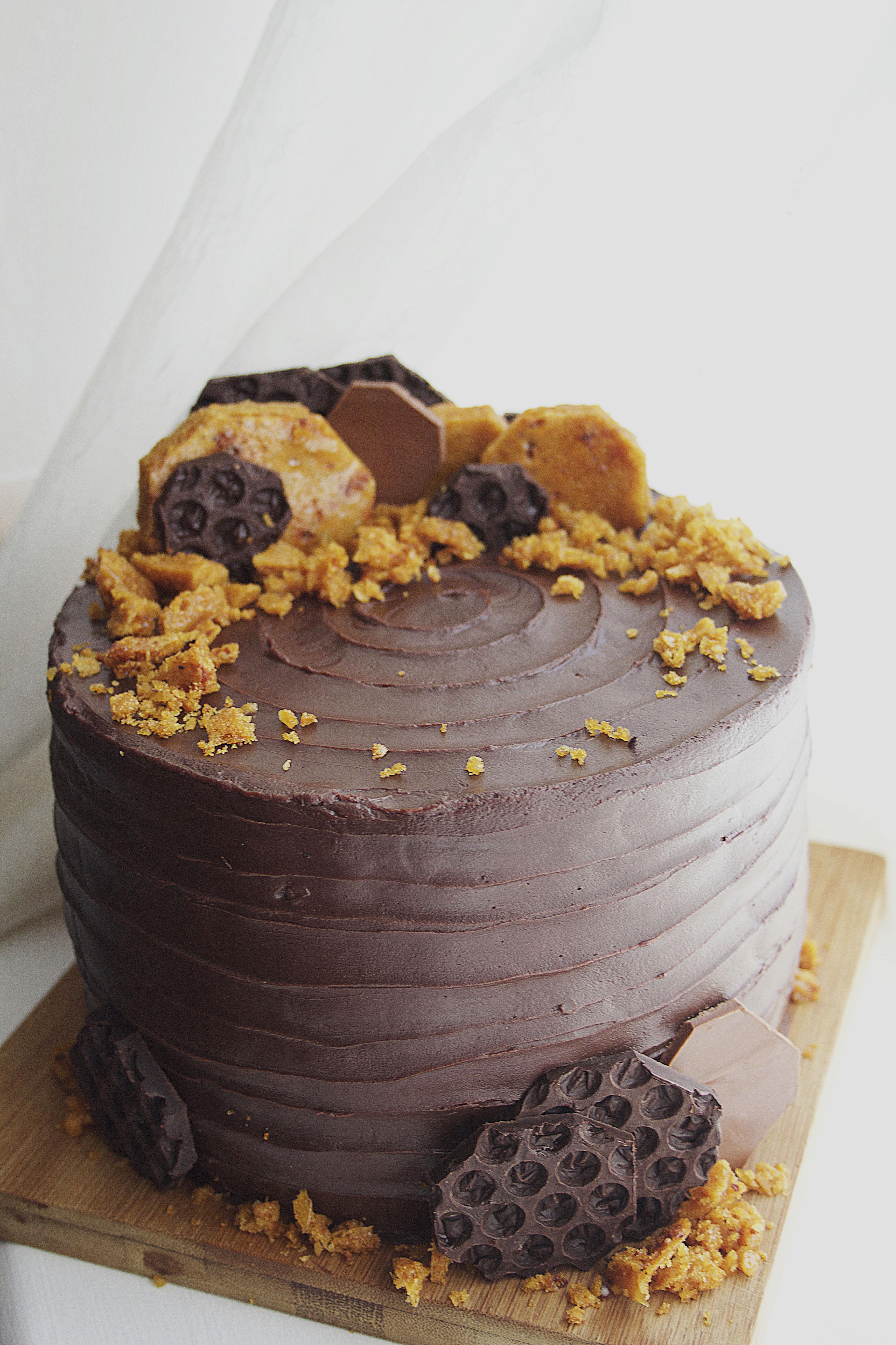 Chocolate Honeycomb Celebration Cake Tassybakes