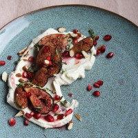 Rose Labneh with Sumac Baked Figs