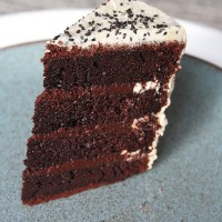 Chocolate Sesame Layer Cake