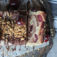 Cherry, Chocolate and Tahini Parfait with Sesame Crumble