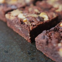 Dark Chocolate and Peanut Butter Brownies (Vegan/Gluten Free)