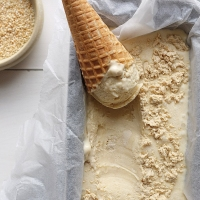 Tahini and Halva Ice Cream