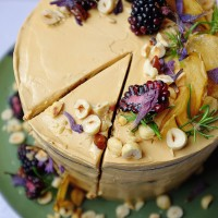 Autumn Hedgerow Celebration Cake (Apple, Blackberry & Salted Caramel)