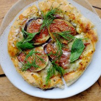 Fig, Oxford Blue & Smoked Salt Honey Flatbread